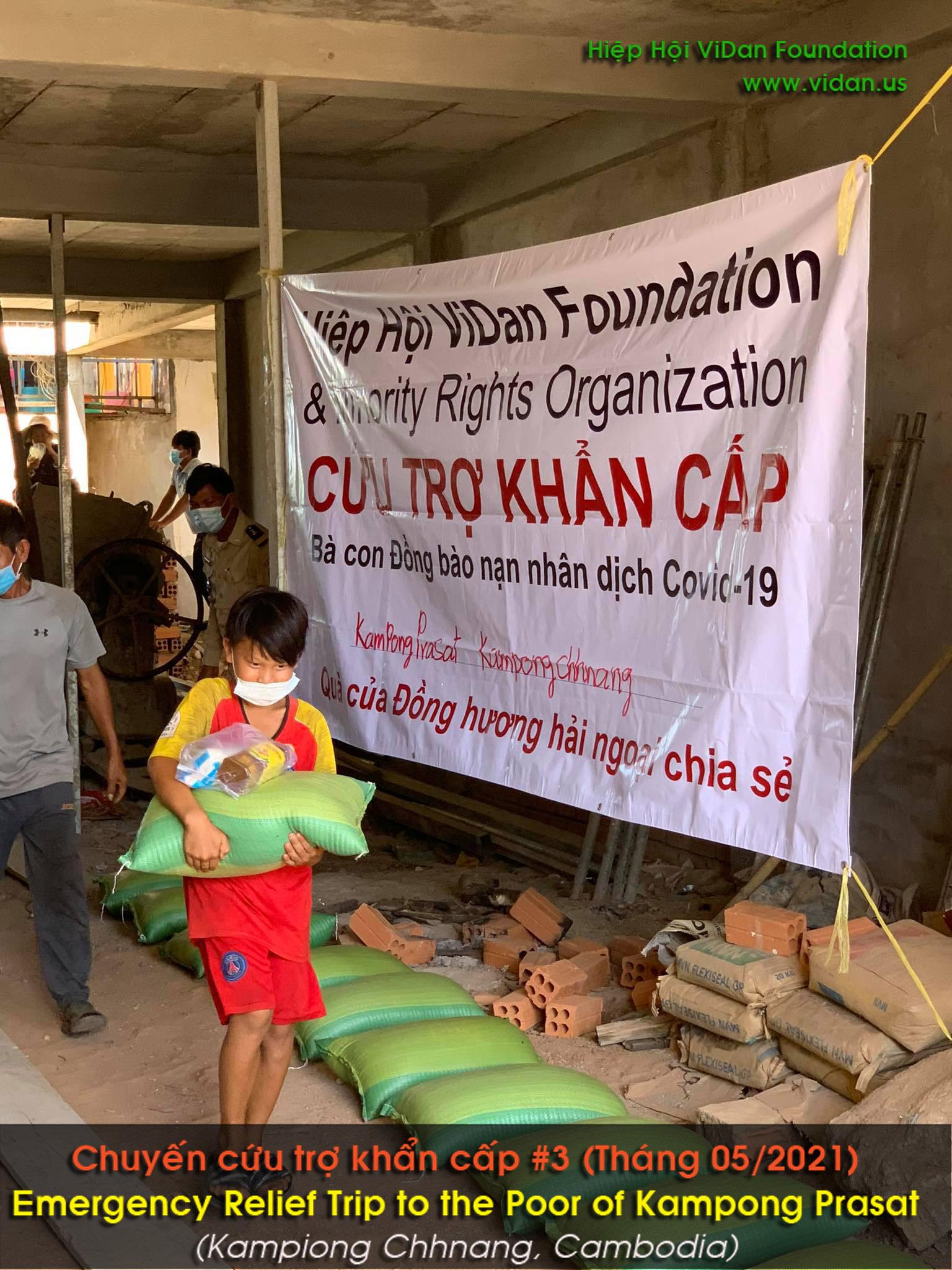 Hình ảnh chuyến cứu trợ ở vùng Kampong Prasat