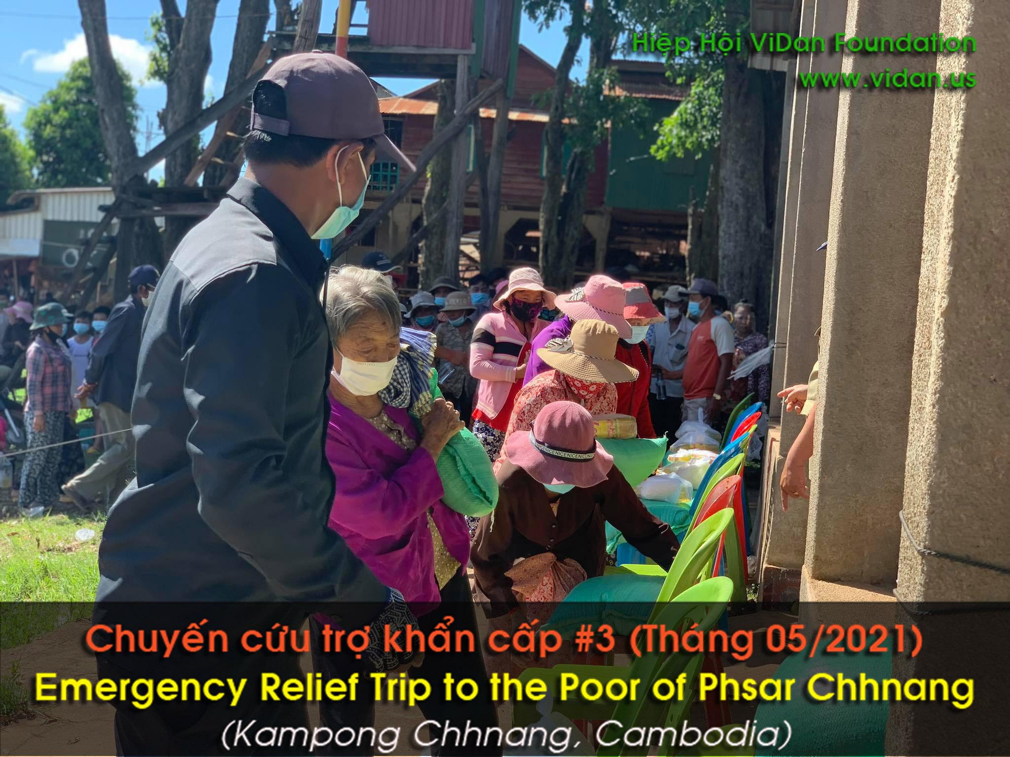 Hình ảnh chuyến cứu trợ ở vùng Phsar Chhnang